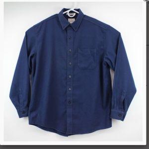 Men's L.L. Bean Button Up Shirt  Blue Size Large